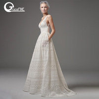 Summer White lace long dress Bohemian Wedding Tulle Dress Sleeveless long Bridal Dresses Female vestidos Honeymoon trip clothes