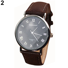 Business Men's Roman Numerals Quartz Analog Watches