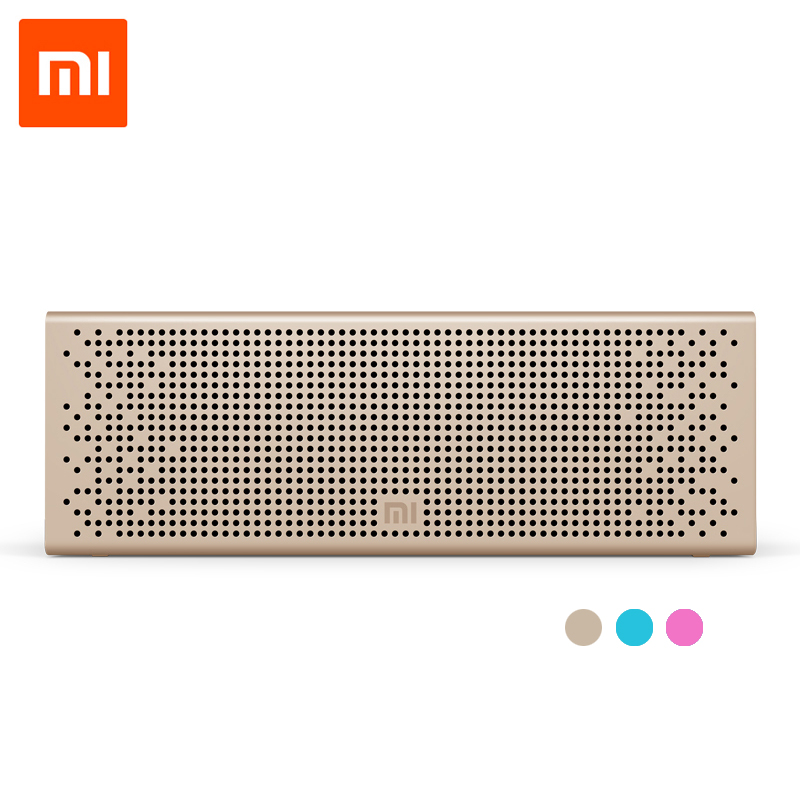 Xiaomi Metal Box BT4.0+EDR Speaker 2.4GHZ-2.48HZ Mini Portable Stereo Wireless Connection Handsfree original xiaomi square box bt4 0 edr speaker