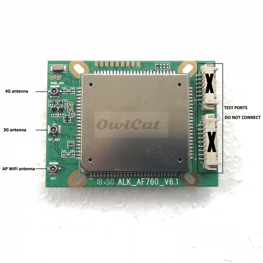 3G 4G SIM Camera Module Mainboard Repair Parts Replacement 4G Signal PCB Motherboard ZTE ALK_AF760_V6.1-in CCTV Camera Housings from Security & Protection