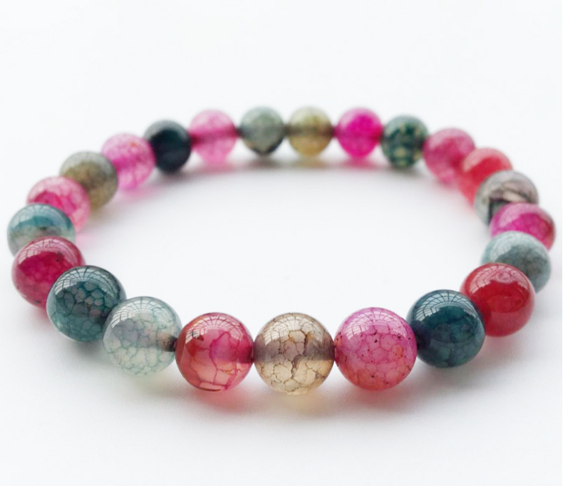 Wholesale 8mm Genuine Colorful Natural Tourmaline Bracelets For Women Lady Charm Stretch Round Crystal Bead Bracelet
