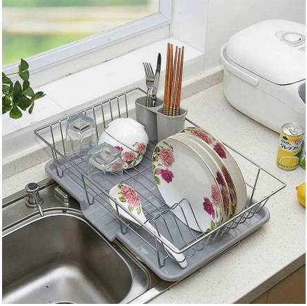 Large stainless steel dish rack Drain rack dish rack Kitchen racks dishes to dry discharge stainless steel sink drain rack