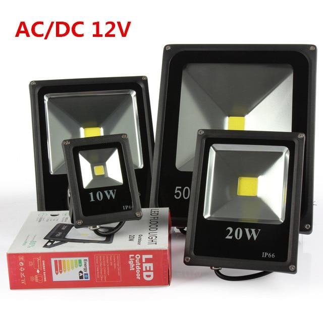 DHL free shipping led Flood Light 10W 20W 30W 50W 12V 24V DC Waterproof IP65 Floodlight