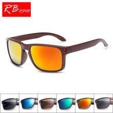 3d1457abb44 RBROVO Vintage Imitation Wood Grain Sunglasses Women Brand Designer Unique  Legs
