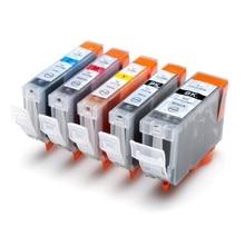 Full ink 1Set 5 PCS ink Cartridge PGI-5 PGI 5 CLI-8 for Canon Pixma iP4200 iP4300 iP4500 iP5200 MP500 MP530 MP600 MP610 MP800