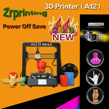 3D Printer 2019 New pattern A12 I3 High-precision Giant Printer Metal frame fittings Rapid assembly 3d Drucker цена