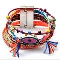 Бразильский браслет ipanema бижутерии ручной работы переплетения глаз Multi wrap Ipanema Браслет дружба boho Браслет женщина