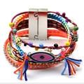 Pulsera brasileña ipanema bijoux de tejido hecho a mano ojo Multi wrap Pulsera de la amistad de Ipanema boho Pulsera mujer