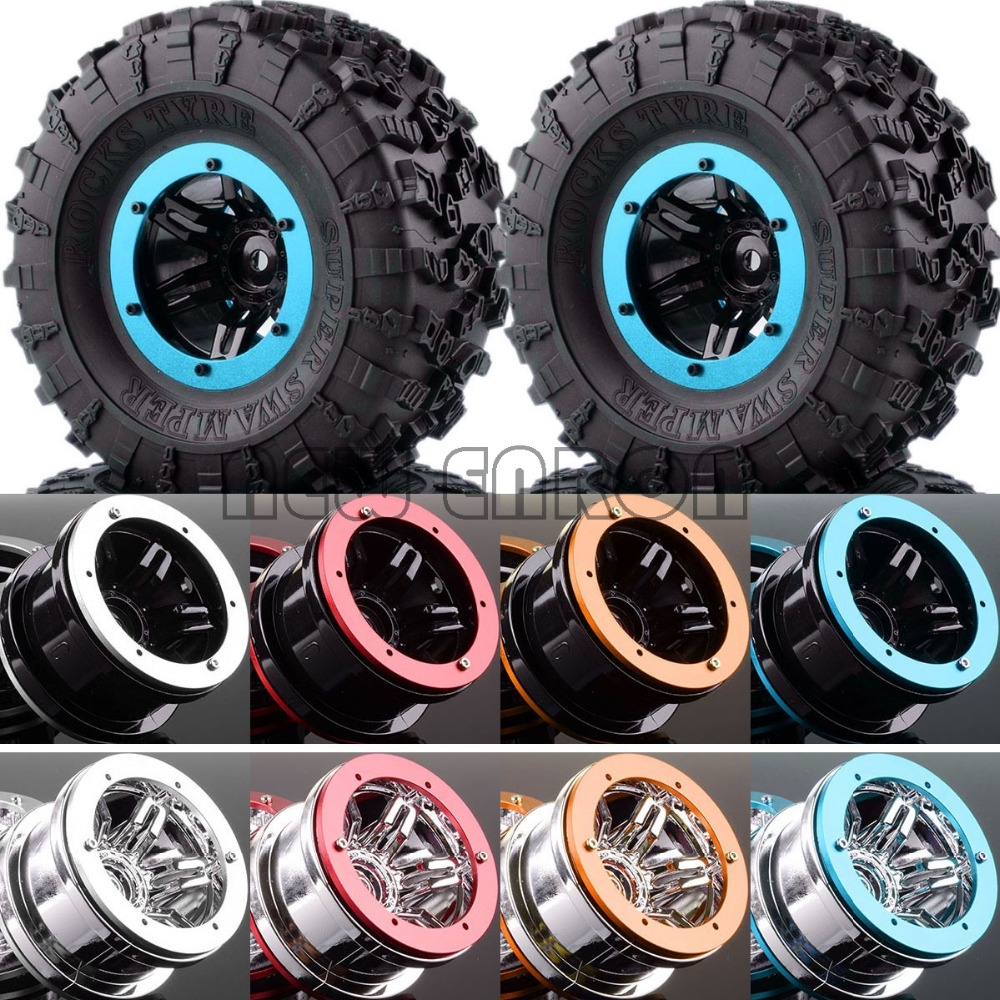 4PCS 2 2 Wheels Super Swamper Rocks Tyre FOR RC Rock Crawler SCX10 D90 CC01 1