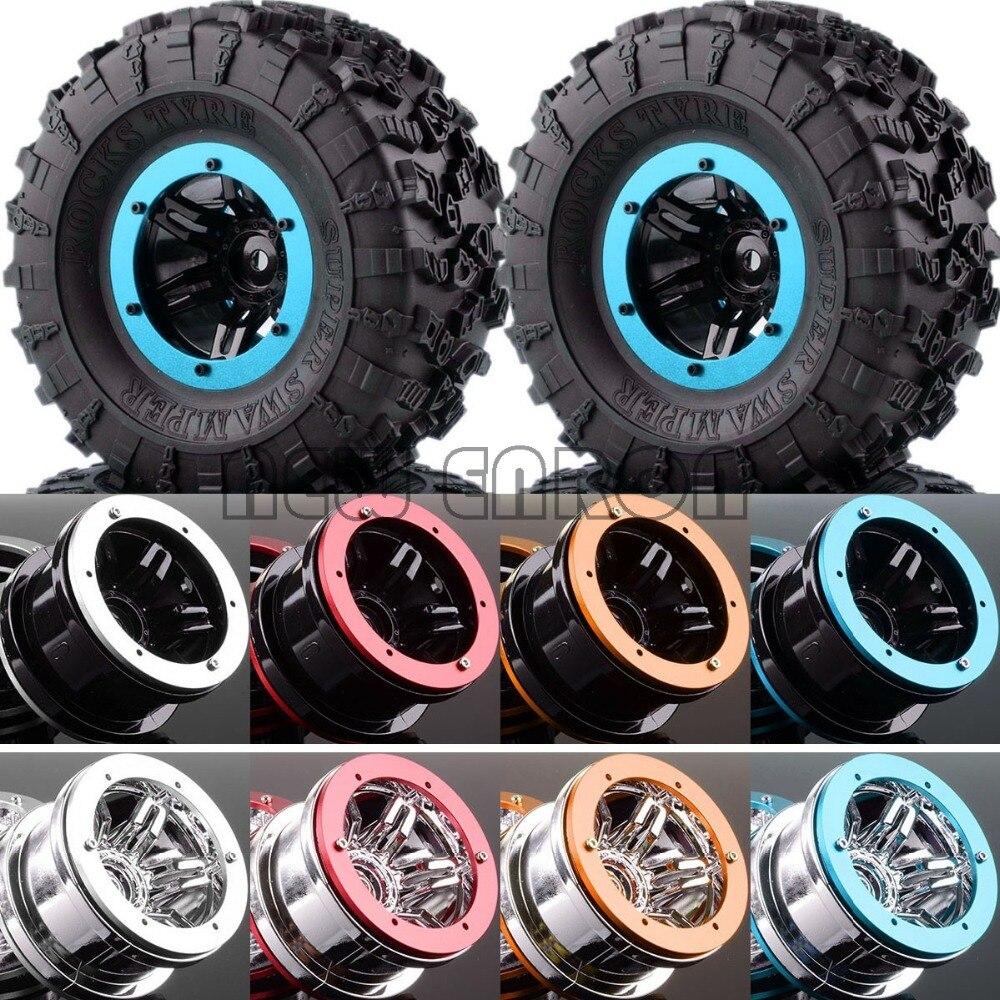 """4 STKS 2.2 """"Wielen & Super Swamper Rotsen Tyre VOOR RC Rock Crawler SCX10 D90 CC01 1/10-in Onderdelen & accessoires van Speelgoed & Hobbies op  Groep 1"""