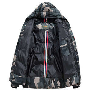 Image 2 - Casual Camouflage Mens Winter Jacket Thick Warm Male Coat Camo Hooded Cotton Windproof Parka Military Mens Overcoat
