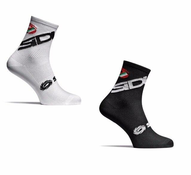 ใหม่ 2 สไตล์ขี่จักรยานถุงเท้าผู้ชายผู้หญิงกีฬากลางแจ้งสีดำสีขาว Breathable แผนที่ถุงเท้าถุงเท้า