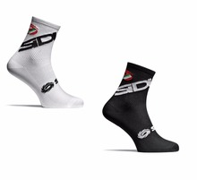 New 2 Style Cycling Socks Men Women Sports Outdoor Black White Breathable Road Bikes Socks