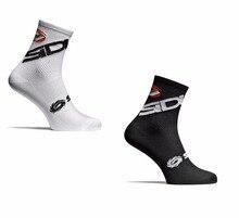 Nuevo 2 Estilo ciclismo calcetines hombres mujeres deportes al aire libre negro blanco transpirable carretera bicicletas Calcetines