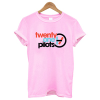 35b180265 Pink T Shirt Graphic Tees Clothing Twenty One Pilots Gothic Tee Shirts  Aesthetic Women Clothes 2019
