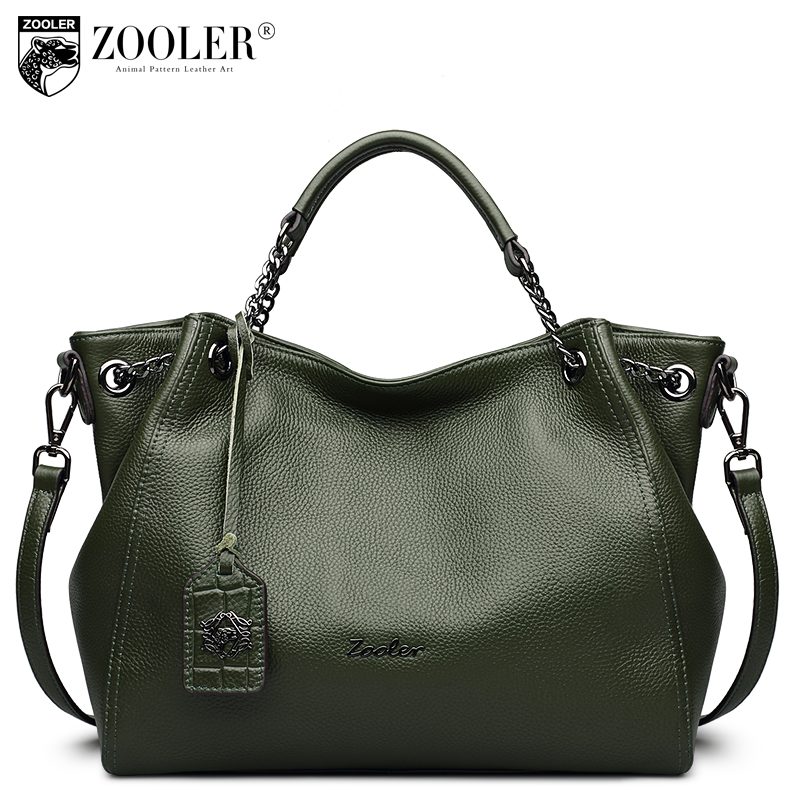 2018 ZOOLER genuine leather handbags woman tote elegant solid women leather bag top handbag shoulder bag bolsa feminina #8130 hottest new woman leather handbag elegant zooler 2018 genuine leather bags top handle women bag brand bolsa feminina u500