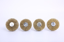 Deburring Abrasive Alumina Wire Brush Flower Head Polish Grind Buff Wheel Shank Furniture Wood Sculpture Rotary Drill Tool-M18