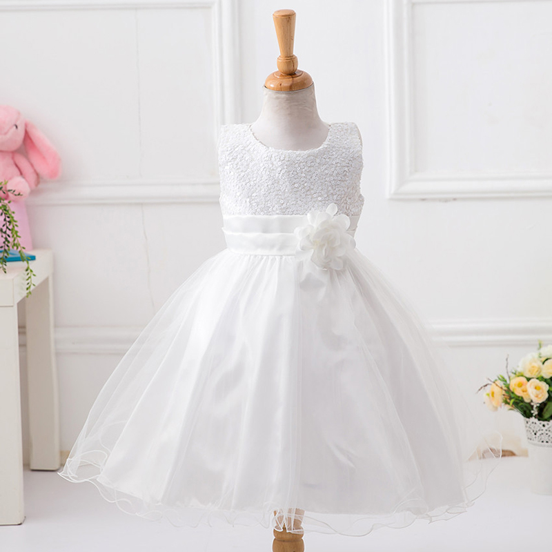 2018 Brand New Flower Girl Dresses White/Ivory Real Party Pageant Communion Dress Little Girls Kids/Children Dress for Wedding купить