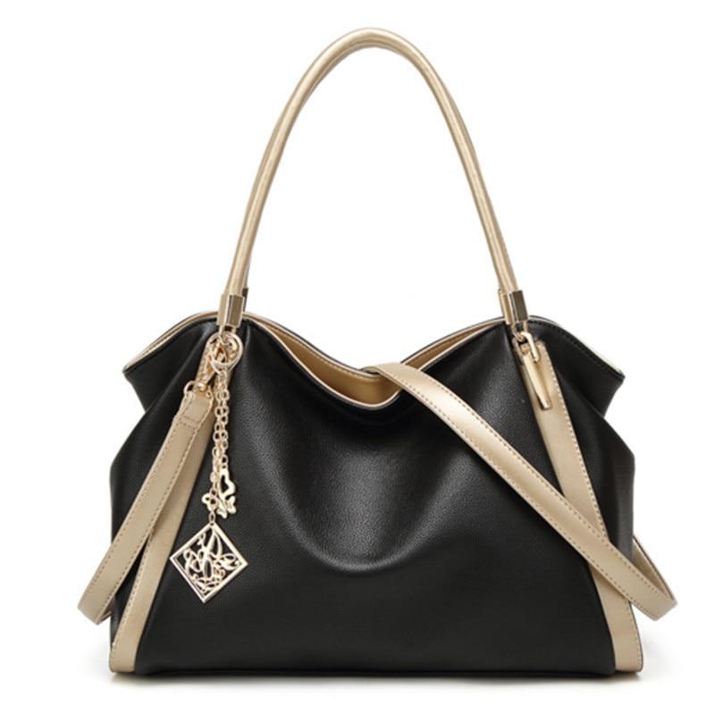 2017 new female bag Messenger bag brand package large capacity trend shoulder shoulder bag black / gray / red / blue