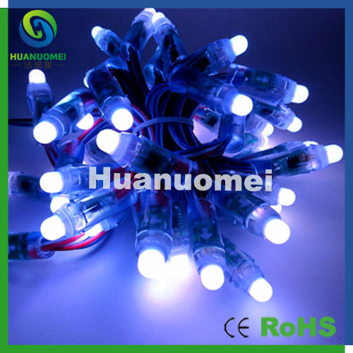 free shipping 100pcs 12mm rgb led pixel string chasing color light ip68 waterproof mini pixel led module in led modules from lights lighting on