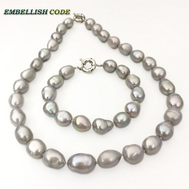 pearls pearl single freshwater grey products irregular strand bracelet black white cultured shaped