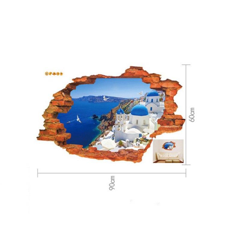 Arbolada trail 3D etiqueta de La Pared 60*90 CM/23.62 ''* 35.43in quarto poster