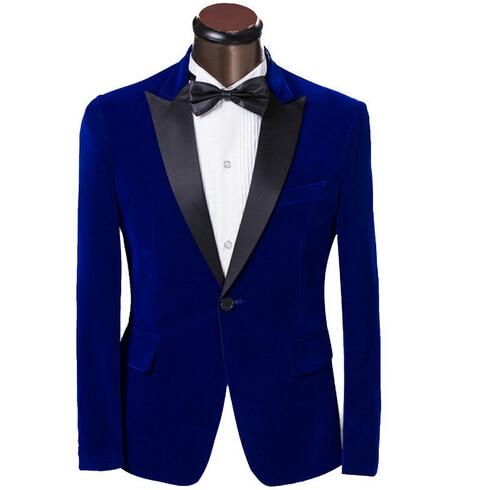 Royal Blue Suit Jacket Mens - Hardon Clothes