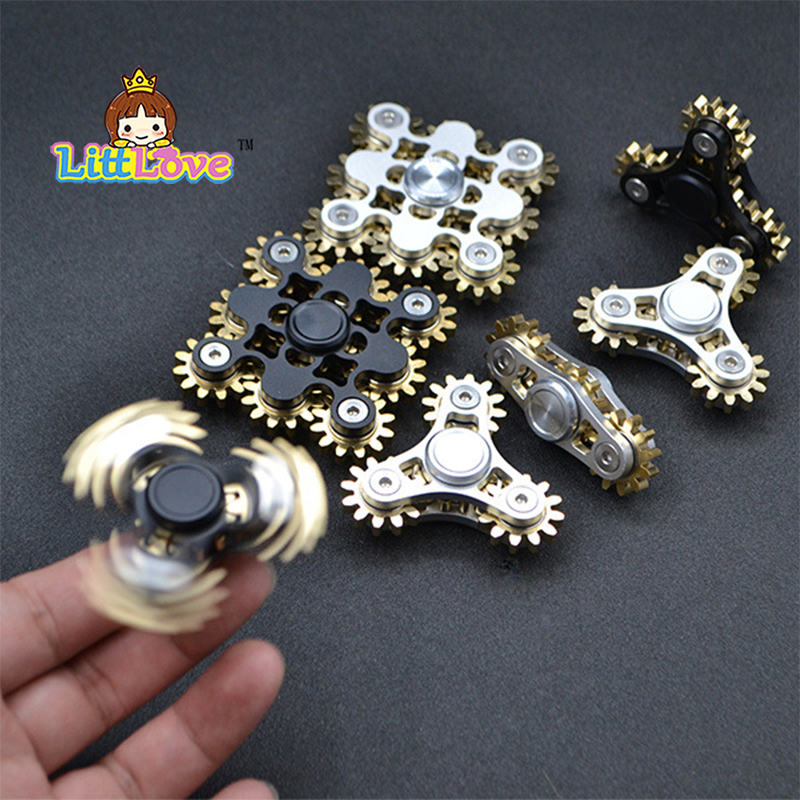 2017 American Hot Sale Gears Linkage Fidget Finger Spinner Hand Spinner Gyro EDC ADHD Rotation Time Long Anti Stress Gift portable triangle finger gyro hand spinner multi color fingertip gyroscope creative toy fidget spinner for adhd relive stress