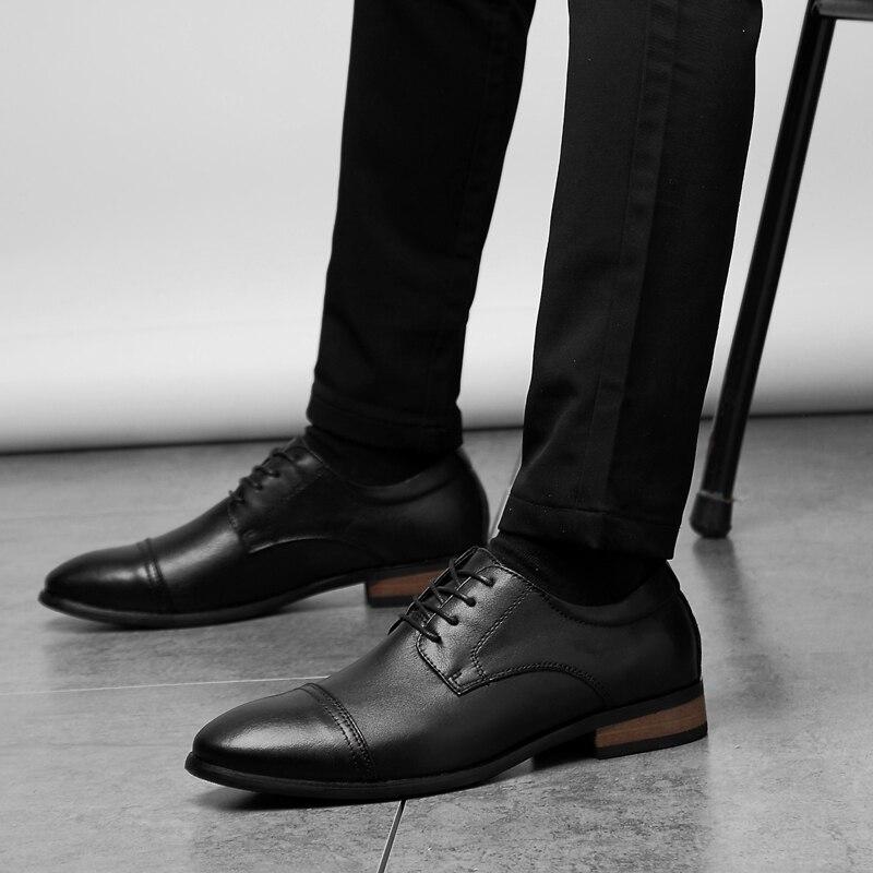 Новинка; сезон весна лето; Мужские модельные туфли из натуральной кожи; Рельефный крокодил; мужские модные повседневные мужские туфли с кис... - 4
