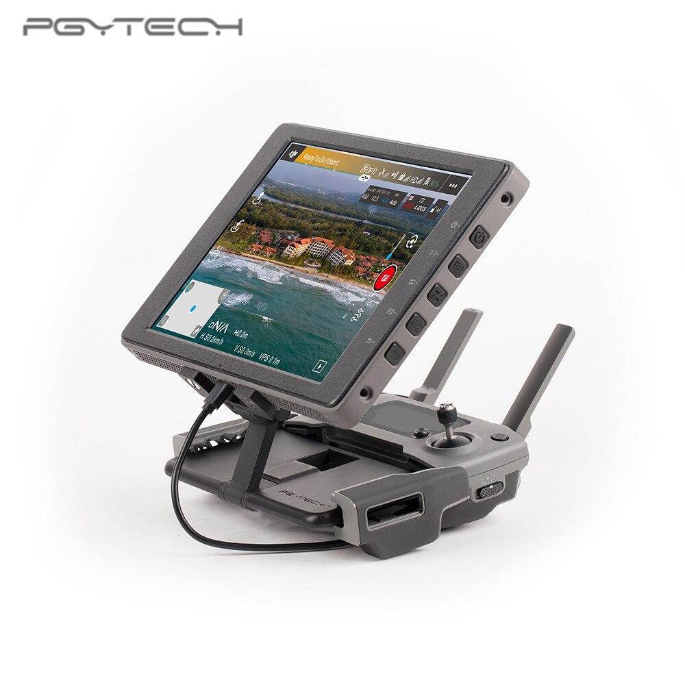 PGYTECH télécommande moniteur clip de fixation en aluminium cristal support de montage pour DJI Mavic 2/MAVIC air/pro/Spark Drone