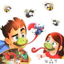 Забавная настольная игра-хамелеон С язычком tic-tac, вечерние игрушки для всей семьи, быстро вылизывать карты, набор игрушек для детей, игра-головоломка