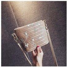 купить Bali Island Hand Woven Bag Round Bag buckle Rattan Straw Bags Satchel Wind Bohemia Beach Embroidery Bag по цене 1010.84 рублей