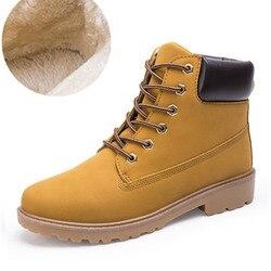 Большой Размеры 2018 39-46 зимние Мужские ботинки Повседневное модные зимние мужские полусапоги Для мужчин кожаные сапоги для Мужская обувь с м...