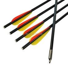 "Free shipping 18 inch 8045# fiberglass Crossbow Bolts arrow 3"" TPU Vane Flat Nock shoot beast archery bow outdoor"