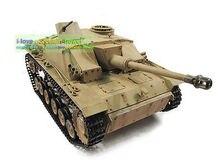 100% Metal Mato 1/16 Stug III RTR RC Tank Infrared Barrel Recoil Yellow 1226