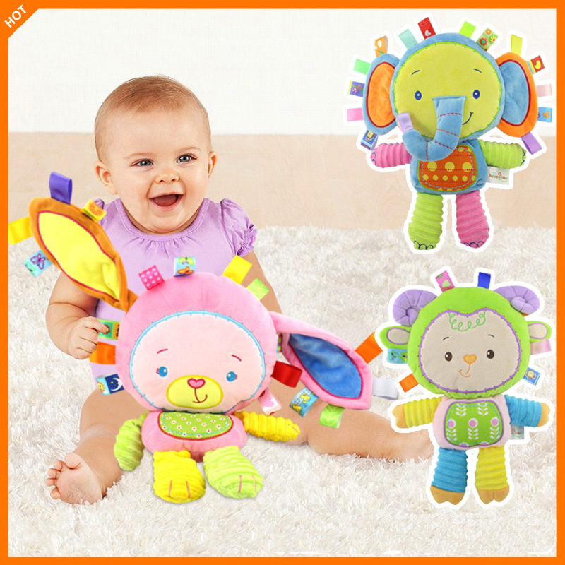 Baby Soft Plush Toy Elephant Crib Teether Animal Infant Early Educational Doll For Kids in Baby Rattles Mobiles from Toys Hobbies