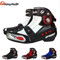 Riding Tribe Microfiber Leather Motorcycle Boots A009 Racing Motocross Shoes Motorbike HIGH SPEED Moto Boats