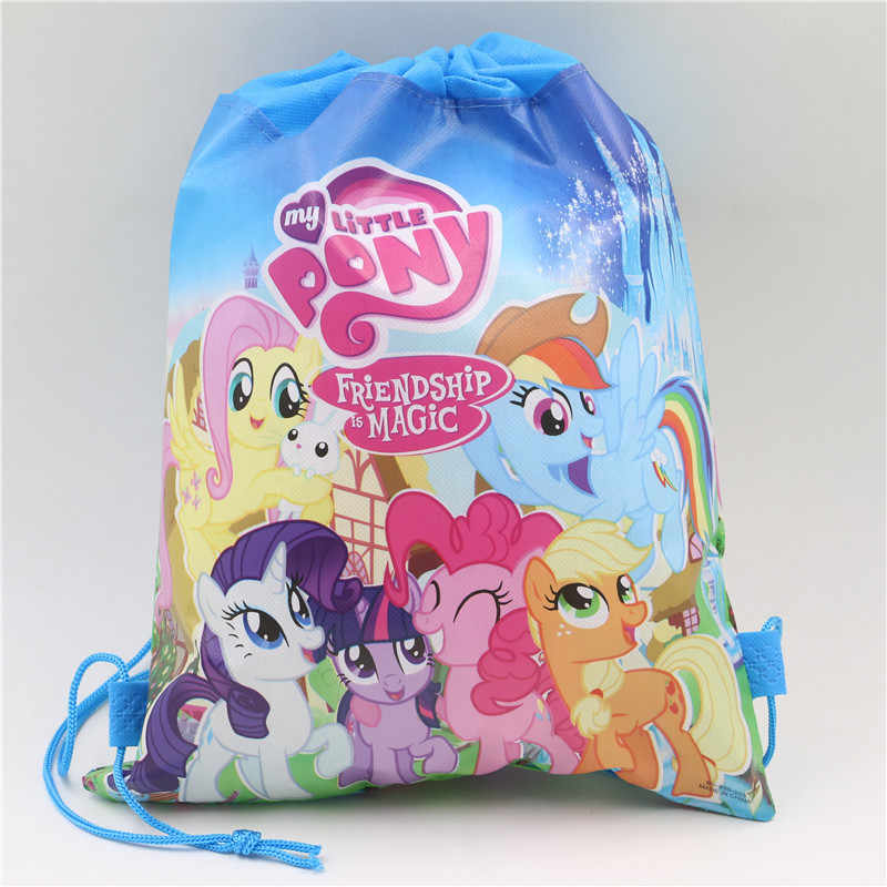 1Pcs My Little Pony Non-woven Fabric Backpack Party Supplies Kids Girl Travel School Bag Birthday Gift Mochila Drawstring Bag
