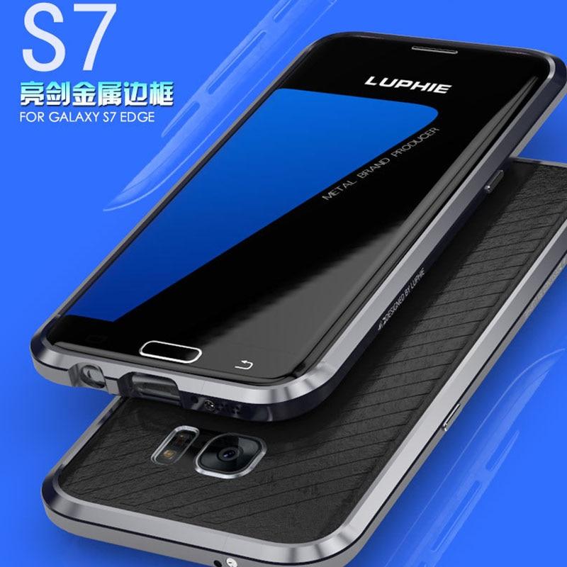 bilder für Für Samsung Galaxy S7 Rand Stoßstange G9350 Metallgehäuse Aluminium für Samsung Galaxy S7 Fall Luxury phone cases aufkleber