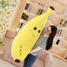 Babiqu Huge Soft Banana Boyfriend Pillow for Girls Valentine's Gift Staffed Big Emoji Banana Plush Toys Creative Kid Fruit Doll