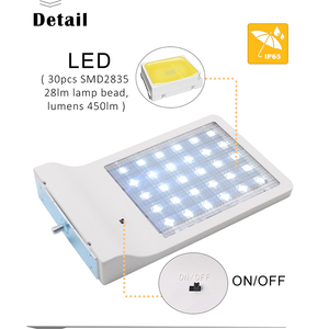 Image 3 - أحدث 30 LED الشمسية إضاءة خارجية مضادة للماء LED مصباح إضاءة آمنة شمعدانات جدارية مع تصاعد القطب للمرآب الشرفة الحظيرة