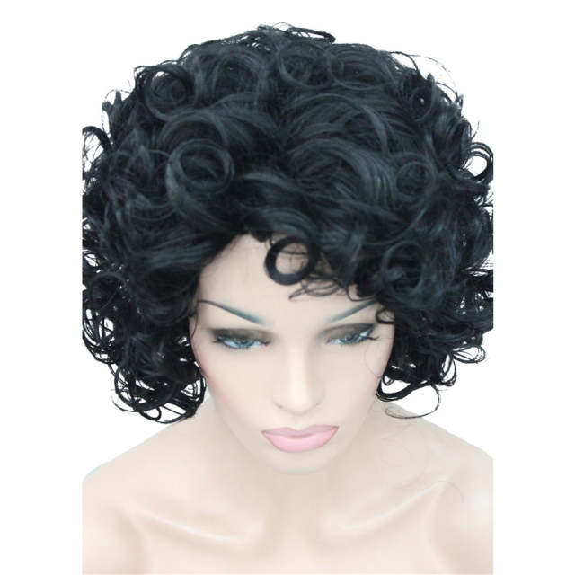 US $17.46 23% OFF|StrongBeauty wig for black women Natural Short Curly  Hairstyles For Medium Hair Black Synthetic Curly Ombre Full Wigs-in  Synthetic ...