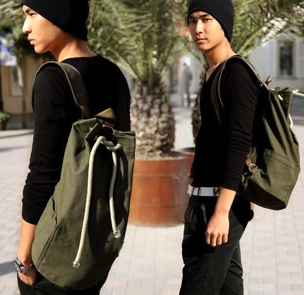 새로운 대용량 남성 drawstring 배낭 캔버스 양동이 가방 unisex 유행 간결한 rugzakken 가방 슬링 배낭 bolsas