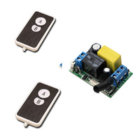 AC220V RF Wireless Mini Switch Relay Receiver Remote Controllers For Light Switch With Black White Transmitter