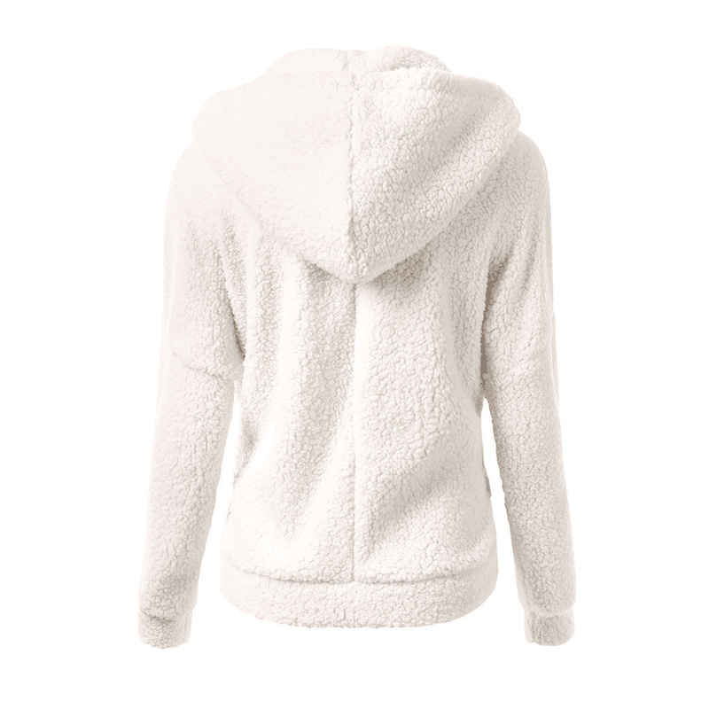 NEEDBO Sweatshirt Women Pink Oversize Hooded Winter Sweatshirt Long Sleeve Hoodies Women Coat Outwear Zipper Hoodies Sweatshirts in Hoodies amp Sweatshirts from Women 39 s Clothing