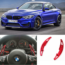 купить tommia For BMW M4 2014-18 2pcs Steering Wheel Aluminum Shift Paddle Shifter Extension Car-styling дешево