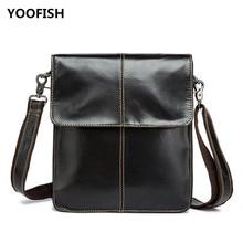 купить Casual Business Black  Genuine Leather men's bag  bag briefcase business men's shoulder messenger bag Free Shipping. дешево