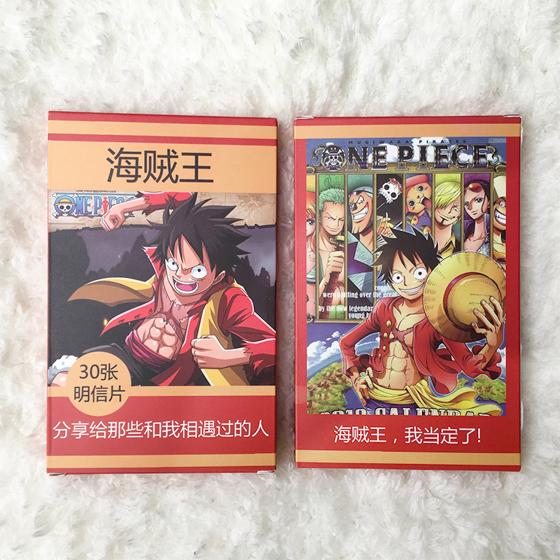 30 Sheets/Set Anime One Piece Paper Postcard/Greeting Card/Message Card/Birthday Letter Envelope Gift Card