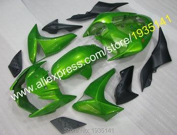 Best price fairings parts For Kawasaki Z1000 Cowlings kit 2007 2008 2009 Z 1000 07 08 09 green black Aftermarket kit