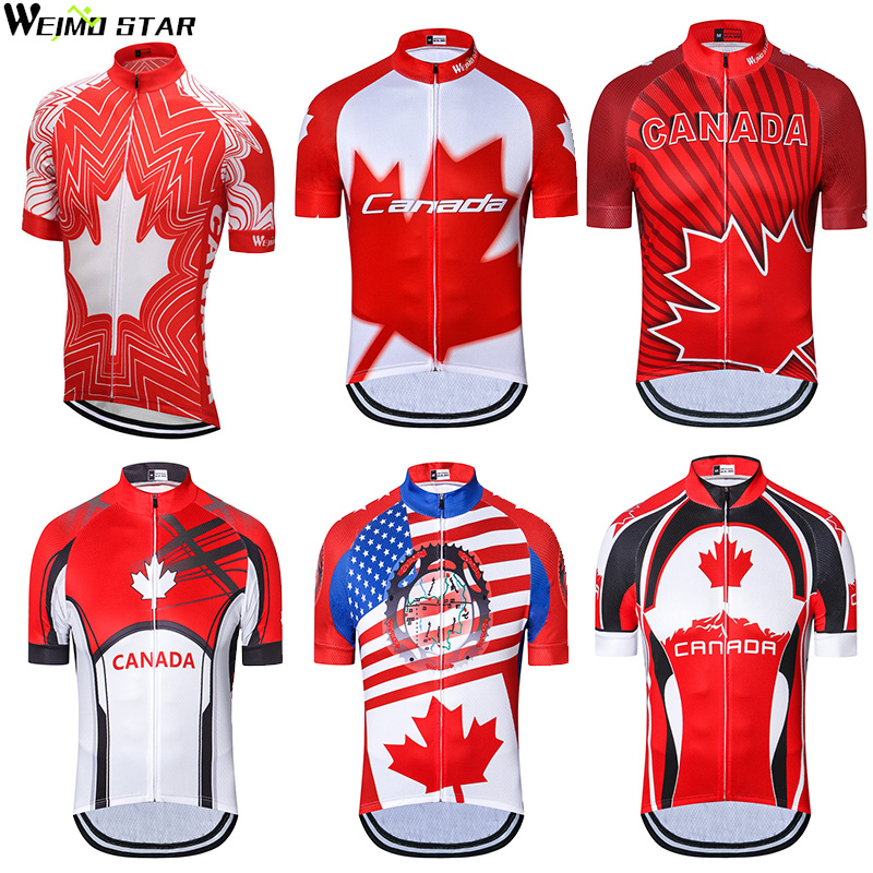 9cecff9ff2221 Canada Style Weimostar men Pro Team cycling jersey cycling clothing Bicycle  clothes Bike Jersey Ropa Ciclismo Tops